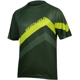Endura SingleTrack Core Print - Maillot manches courtes Homme - vert